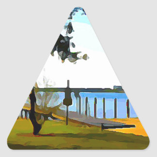 Boat Dock Lake Baldwin Triangle Sticker