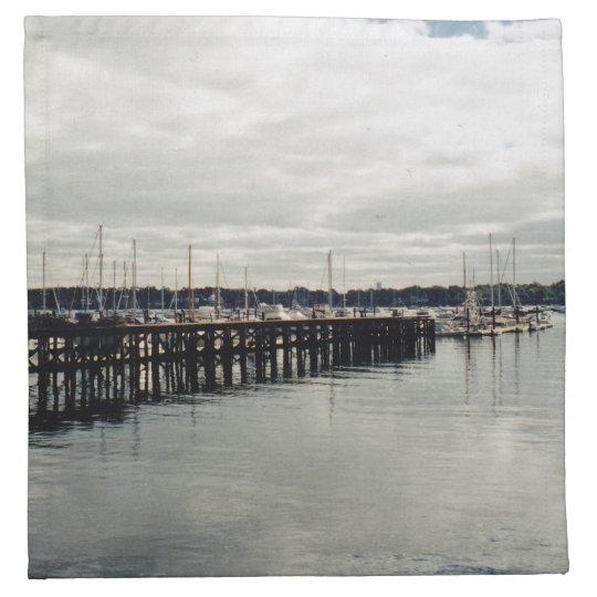 Boat Dock Printed Napkins