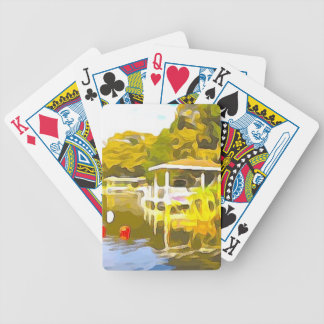 Boat Docks Lake Osceola Bicycle Playing Cards