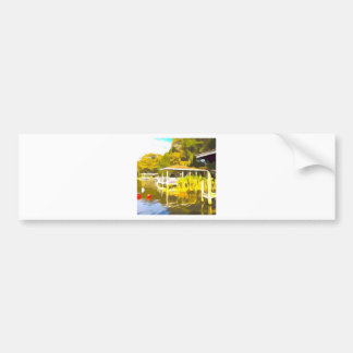 Boat Docks Lake Osceola Bumper Sticker