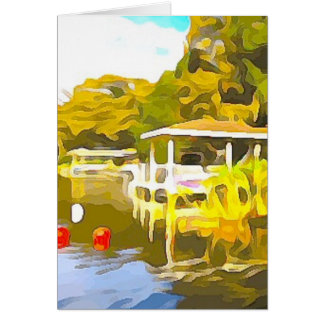Boat Docks Lake Osceola Card