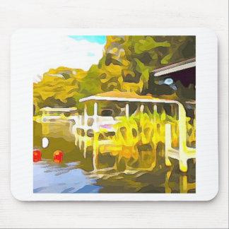 Boat Docks Lake Osceola Mouse Pad