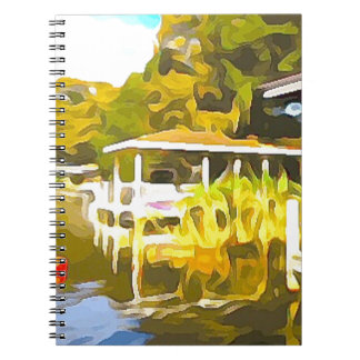 Boat Docks Lake Osceola Notebook