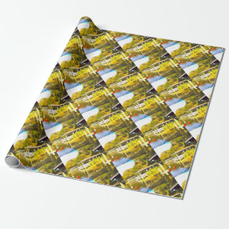 Boat Docks Lake Osceola Wrapping Paper