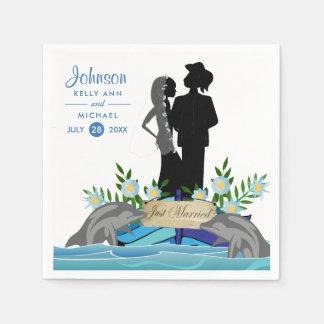 Boat Dolphin Wedding Napkin