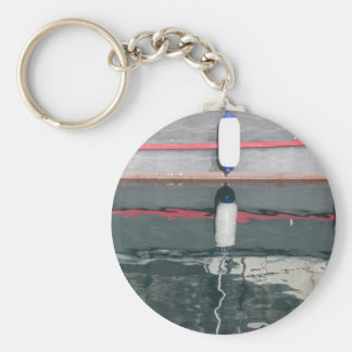 Boat fenders hanging on the board keychain