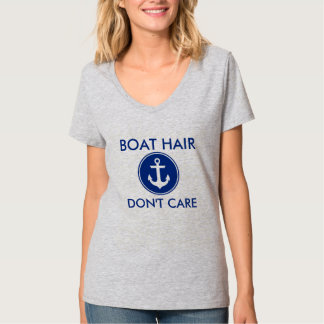 Boat Hair Don't Care Nautical Anchor T-Shirt G
