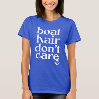 Boat Hair Don't Care women's anchor shirt