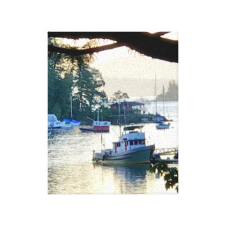 Boat Harbor Canvas Print