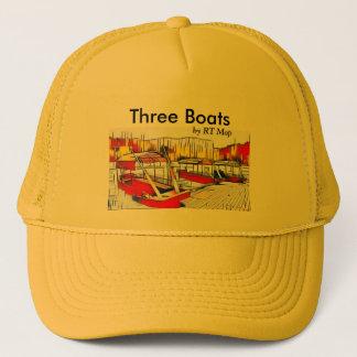 """Boat Hat """"Three Boats"""""""
