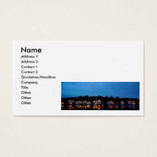 Boat House Row business card art