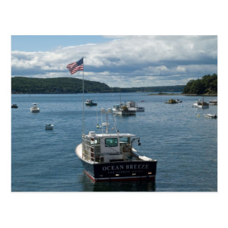 Boat in Bar Harbor Postcard