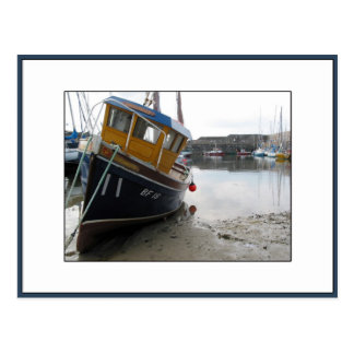 Boat in Portsoy, Aberdeenshire, Scotland Postcard