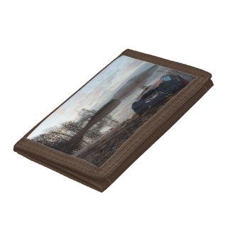 Boat joint tri-fold wallet