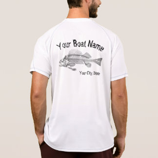 Boat Name with Fish Bones Shirt
