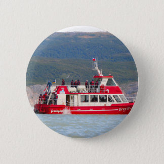 Boat on Lago Grey, Patagonia, Chile 2 Inch Round Button