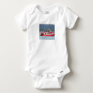 Boat on Lago Grey, Patagonia, Chile Baby Onesie
