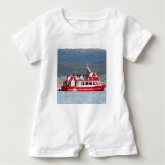 Boat on Lago Grey, Patagonia, Chile Baby Romper