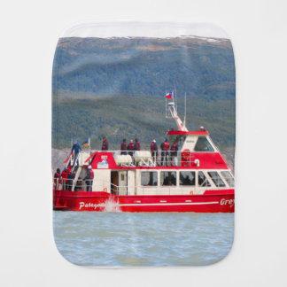 Boat on Lago Grey, Patagonia, Chile Burp Cloth