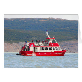 Boat on Lago Grey, Patagonia, Chile Card