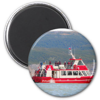 Boat on Lago Grey, Patagonia, Chile Magnet