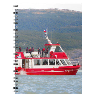 Boat on Lago Grey, Patagonia, Chile Notebook