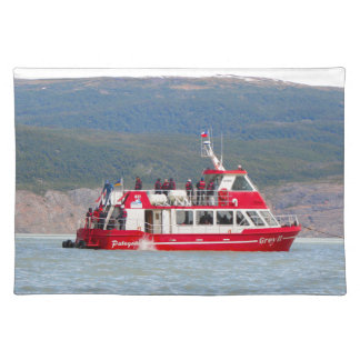 Boat on Lago Grey, Patagonia, Chile Placemat