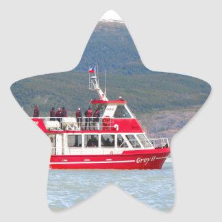Boat on Lago Grey, Patagonia, Chile Star Sticker