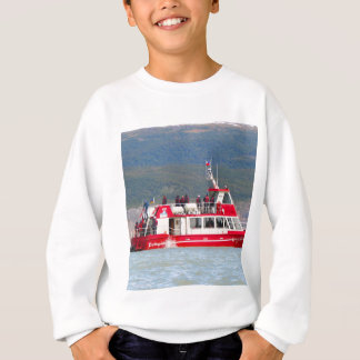 Boat on Lago Grey, Patagonia, Chile Sweatshirt