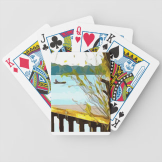 Boat on Lake Baldwin Bicycle Playing Cards