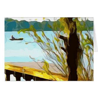 Boat on Lake Baldwin Card