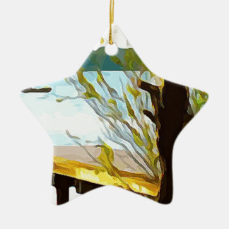 Boat on Lake Baldwin Ceramic Ornament