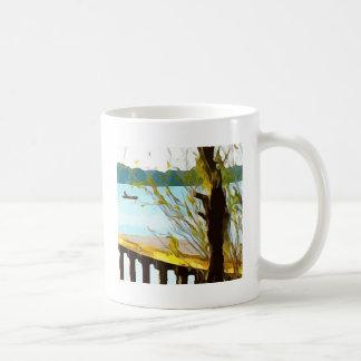 Boat on Lake Baldwin Coffee Mug