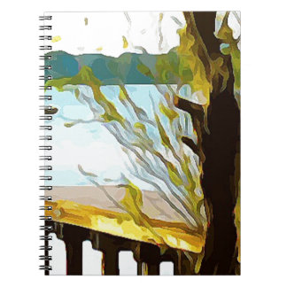 Boat on Lake Baldwin Spiral Notebook