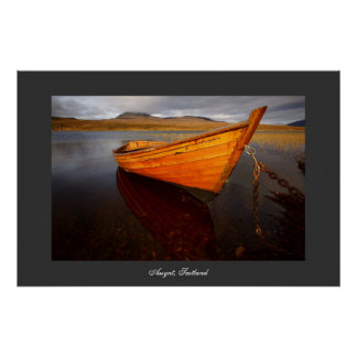 Boat on Loch. Poster by cARTerART