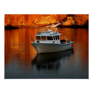 Boat On Perkins Cove Maine Poster