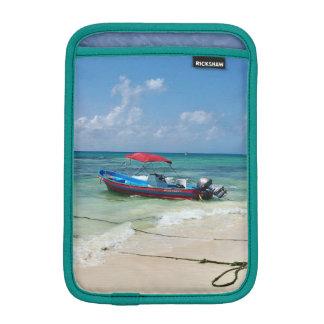 Boat on Playa Del Carmen iPad Mini Sleeve
