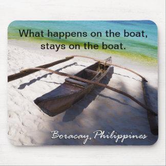 Boat on the Beach Boracay Philippines Mousepad