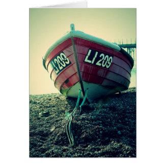 Boat on the Beach Card