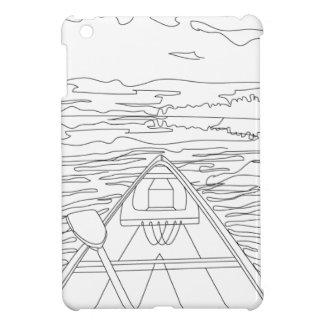 Boat on the lake iPad mini cover