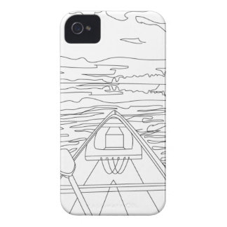 Boat on the lake iPhone 4 cases