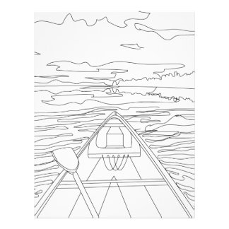 Boat on the lake letterhead