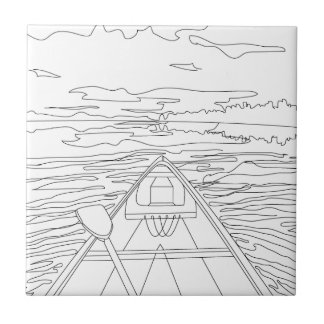 Boat on the lake tiles