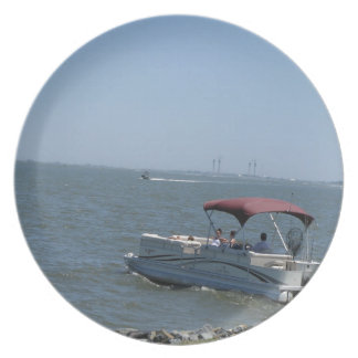 Boat on the Ocean Party Plate