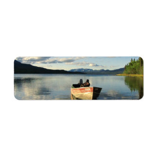 Boat on the Shore Return Address Label