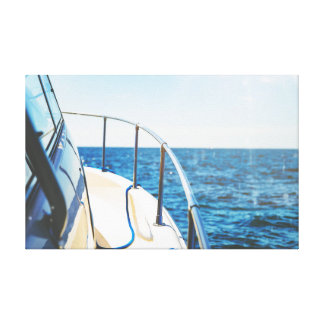 Boat on the Water | Ocean | Sky Canvas Print