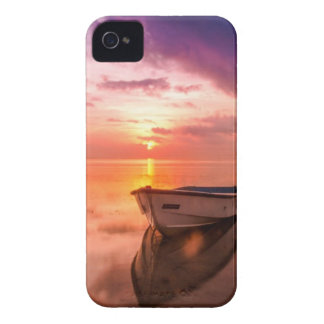 Boat On The Water Sunset Case-Mate iPhone 4 Cases