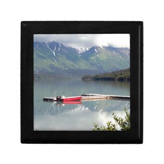 Boat on Trail Lake, Alaska Jewelry Box