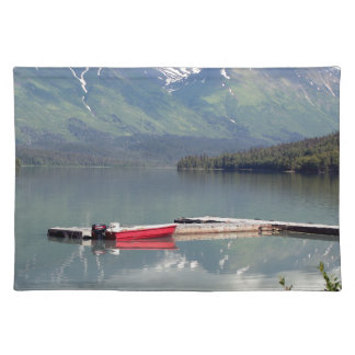 Boat on Trail Lake, Alaska Placemat
