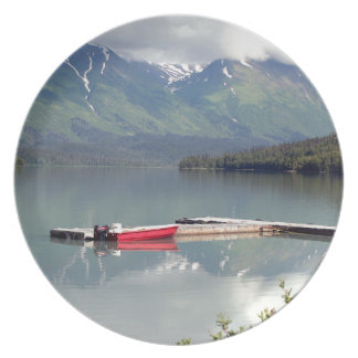 Boat on Trail Lake, Alaska Plates